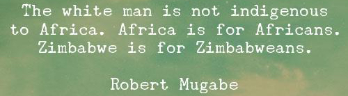 Africa is for theAfricans?